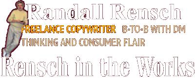 Blog of Randall Rensch, Freelance B2B copywriter